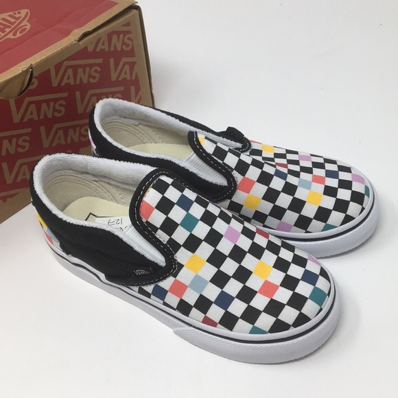 ca242399ed VANS checkered classic slip on shoes Size 10 T